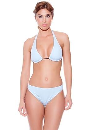 Teleno Bikini Cortina Liso Azul (Celeste)