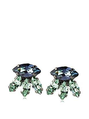 Tova Sparkling Green Vintage-Inspired Earrings