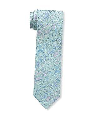 Bruno Piattelli Men's Floral Silk Tie, Mint