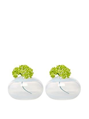 Chive Set of 2 Pearl Oval Vases