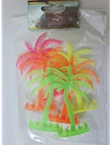Artificial Toy Plastic Project Trees : 6 Pcs : 3.5 Inch (plam tree)