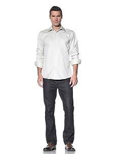XMI Men's Textured Dress Shirt (Olive)