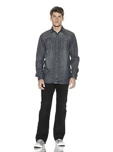 Cult Of Individuality Men's Dean Denim Shirt (Geizer)