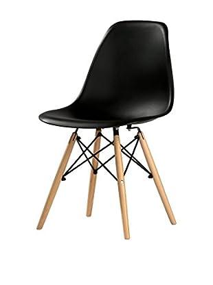 kitchen Furniture Set Silla 4 Uds. Negro