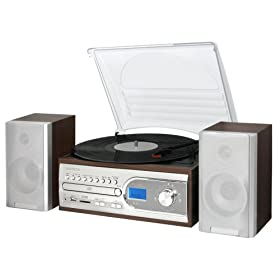 EXEMODE SD/CD/レコード オーディオシステム ER-250 シルバー