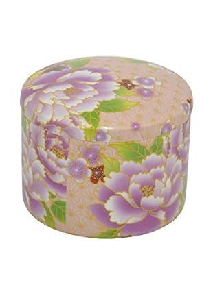 Three Hands Ceramic Floral Box, Blush Multi