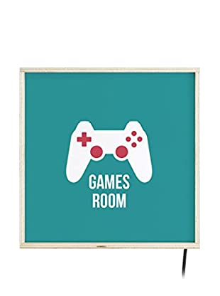 Little Nice Things Leuchtbild LED Games Room