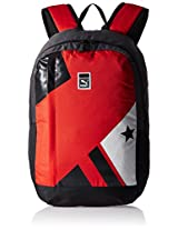 Puma 20 Ltrs High Risk Red and Star Graphic Casual Backpack (7385203)