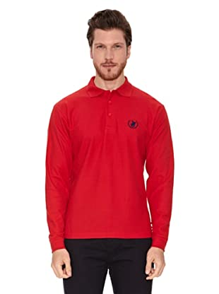 Polo Club Polo Manga Larga Regular Fit Orange (Rojo)