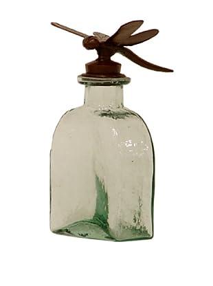 Palecek Decorative Bottle, Green Dragonfly