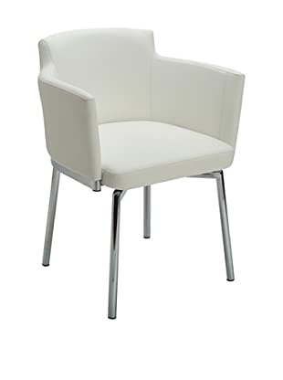 Sunpan Garcia Swivel Chair, White
