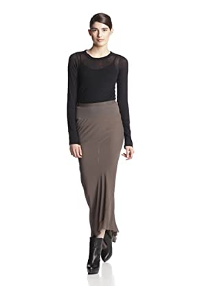 Rick Owens Women's Straight Fit Skirt (Grey)