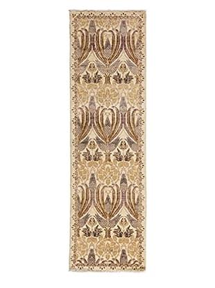 Darya Rugs Arts & Crafts Handmade Rug, Ivory, 2' 5