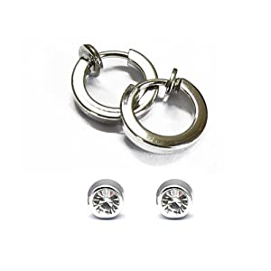 Via Mazzini Clip On 2 Earrings Combo For Non-Pierced Ears for Girls