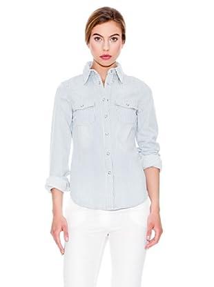 Mango Camisa Rayas (Azul / Blanco)