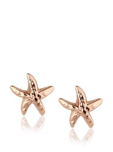 Catherine Angiel Rose Gold Starfish Stud Earrings