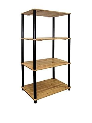 ORE International 4-Tier Bookshelf, Brown