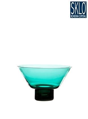 Cristal de Bohemia Portavelas Columna Votive Cónico Rubí