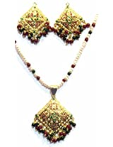 Shingar Ksvk Jewels Jadau Ruby Emerald Pendant Set For Women (9627-jadaau-Ruby-Emerald-ps)