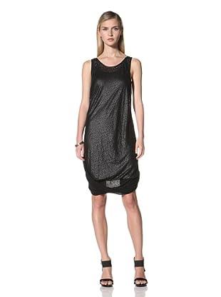Poleci Women's Laser Cut Layer Dress (Black)