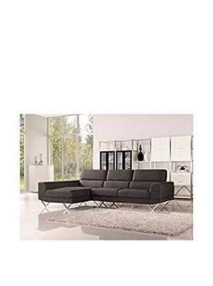 DG Casa Morgan Sectional Sofa Left Facing Chaise, Charcoal
