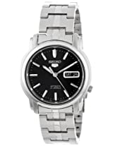 Seiko Men's SNKK71 Seiko 5 Stainless Steel and Black Dial Automatic Watch