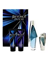 Beyonce Pulse Coffret: Edp Spray 100ml/3.4oz + Body Lotion 75ml/2.5oz + Shower Gel 75ml/2.5oz + Edp Spray 15ml/0.5oz - 4pcs