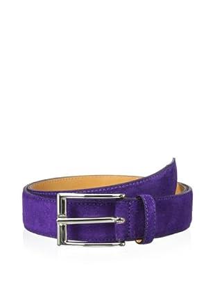 Leone Braconi Men's Suede Belt (Purple)