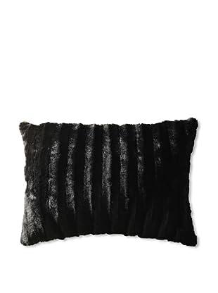 Faux Black Fur Pillow (Black/White)
