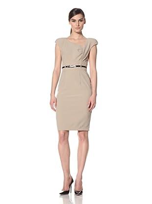 Single Women's The Becky Asymmetric Neck Dress (Khaki)