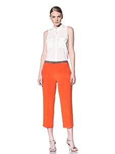 Christian Siriano Women's Cropped Pant (Citrus)