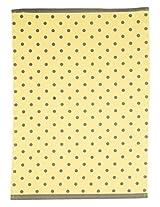"PO BOX 100% Cotton 1 Kitchen Towel Glass Story Yellow- 20""X28"""