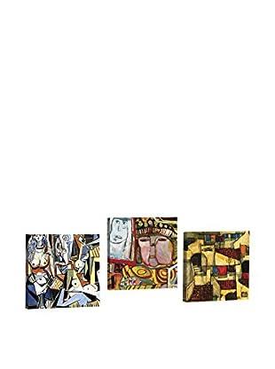 Dekorjinal Set, 3-teilig dekoratives Bild Ahm054 (mehrfarbig)