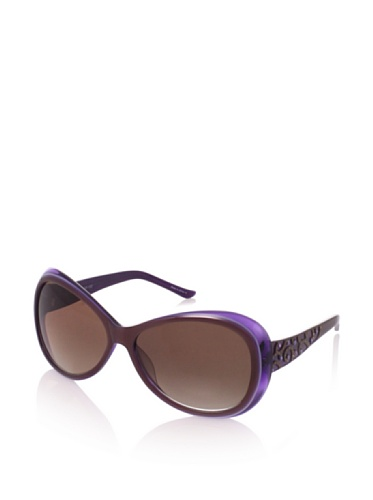 Judith Leiber Women's JL1045B 01 Moroccan Butterfly Sunglasses (Amethyst/Brown)