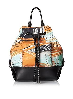 L.A.M.B. Women's Gracie 2 Backpack, Orange/Black