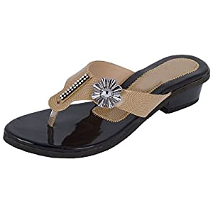 New Fine Walk Women's Beige Sandal - 7 IN