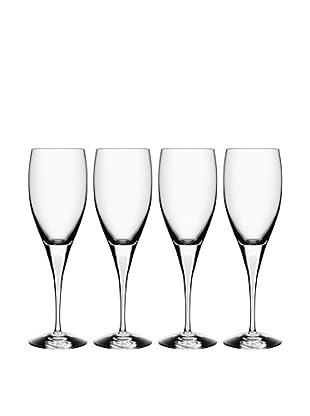 Orrefors Set of 4 Intermezzo White Wine Glasses