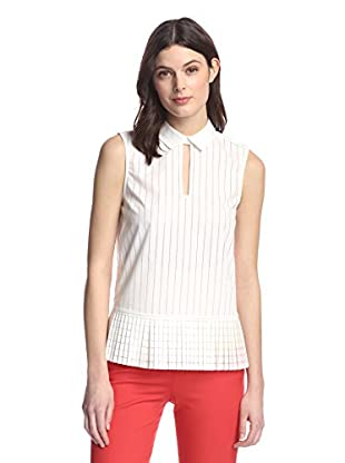 French Connection Women's Pixel Perforated Top