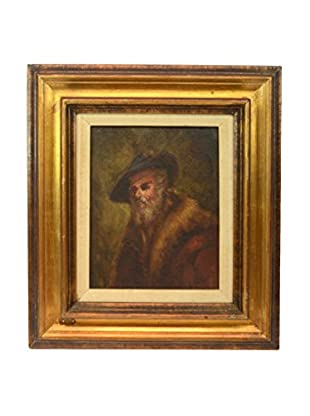 Framed Rembrandt Painting, Multi Colored