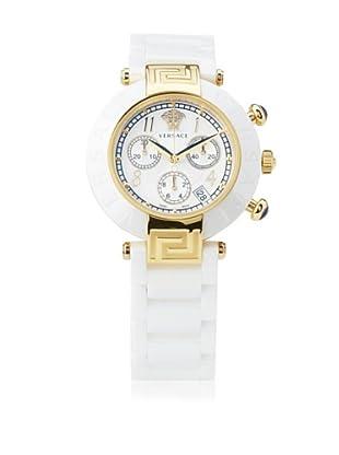 Versace Women's 95CCP1D497 SC01 Reve Mother-Of-Pearl Dial Chronograph White Ceramic Bracelet Watch