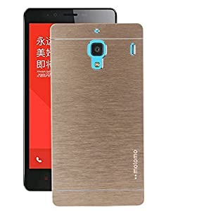 MOTOMO METAL BRUSHED BACK CARRY CASE COVER FOR XIAOMI REDMI 1s