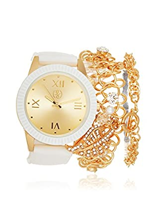 Arm Candy Women's NXS5294G-P White/Gold Stainless Steel/Metal Watch