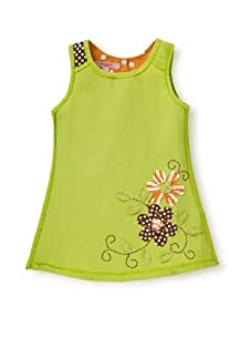 Beetlejuice Girl's 2T-6X Buttercream A-Line Embroidered Dress (lime green)