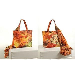 Shopping World Faux Silk With Shiffon Stole Hand Bag - Specgirl