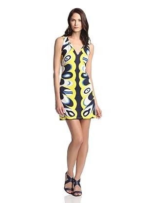 JB by Julie Brown Women's Isla V-Neck Shift Dress (Navy Grapefruit)