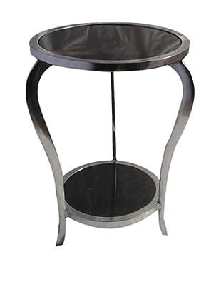 Zanzi Table with 2 Tier Black Marble