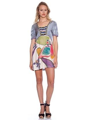 Isabel Morgado Vestido Alcasser (Gris / Multicolor)