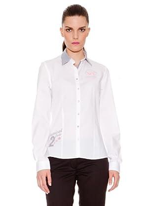 La Martina Camisa Banderas Cuello (Blanco)
