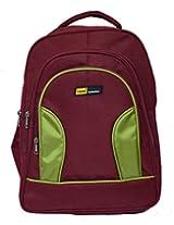 Yark Collection School Bag (Maroon Green)
