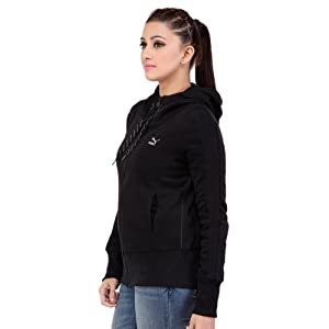 Puma Black Full Sleeves Cotton Women - Jackets